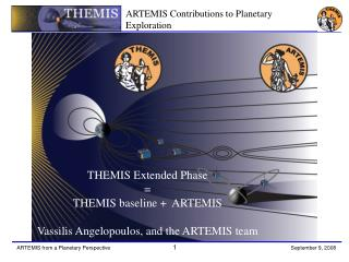 THEMIS Extended Phase = THEMIS baseline +  ARTEMIS Vassilis Angelopoulos, and the ARTEMIS team
