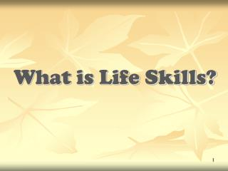 What is Life Skills?