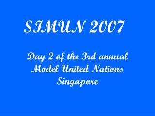 SIMUN 2007