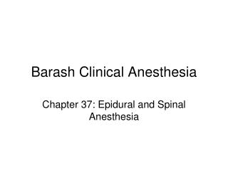 Barash Clinical Anesthesia