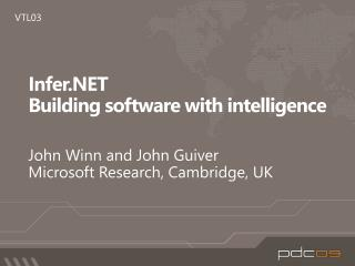 Infer.NET Building software with intelligence