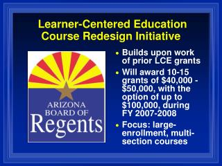 Learner-Centered Education Course Redesign Initiative