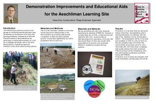 Demonstration Improvements and Educational Aids for the Aeschliman Learning Site