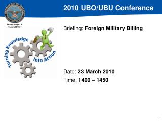 Briefing: Foreign Military Billing