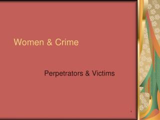 Women & Crime