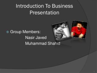 Introduction To Business Presentation