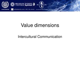 Value dimensions