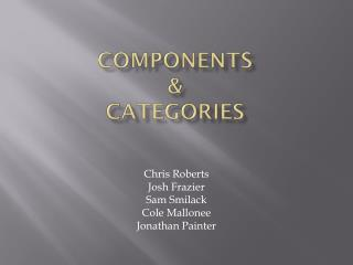 Components & Categories