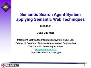 Semantic Search Agent System applying Semantic Web Techniques