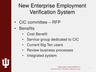 New  Enterprise Employment Verification System