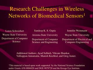 Research Challenges in Wireless Networks of Biomedical Sensors1