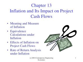 Chapter 13 Inflation and Its Impact on Project Cash Flows