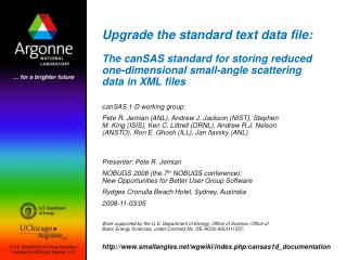 Upgrade the standard text data file:  The canSAS standard for storing reduced one-dimensional small-angle scattering dat