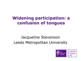 Widening participation: a confusion of tongues