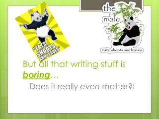 But all that writing stuff is  boring …