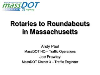 Rotaries to Roundabouts in Massachusetts