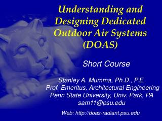 Understanding and Designing Dedicated Outdoor Air Systems (DOAS)