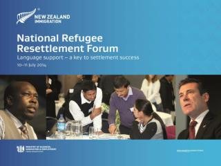 New Zealand Refugee Resettlement Strategy – overview