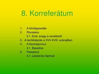 8. Korreferátum