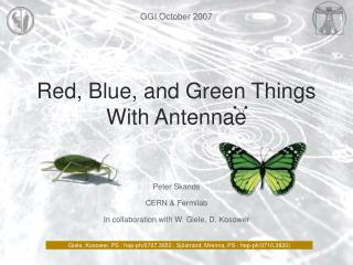Red, Blue, and Green Things With Antennae
