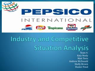 Industry and Competitive Situation Analysis