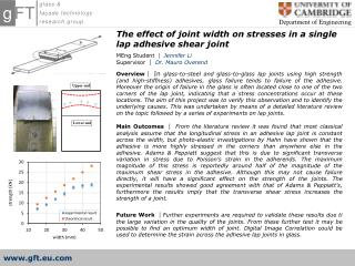 The effect of joint width on stresses in a single lap adhesive shear joint