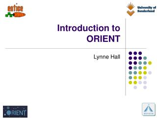 Introduction to ORIENT