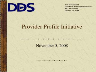 Provider Profile Initiative