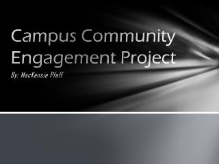 Campus Community Engagement Project