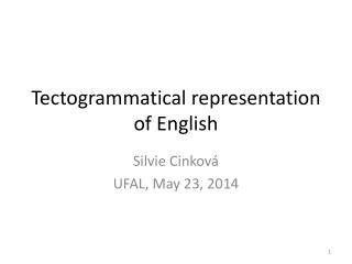 Tectogrammatical representation of English