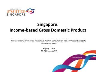Singapore: Income-based Gross Domestic Product
