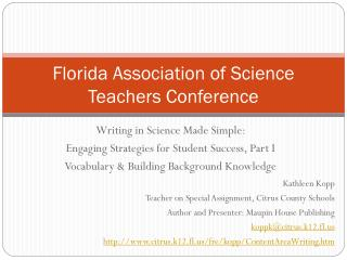 Florida Association of Science Teachers Conference