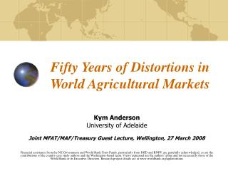 Fifty Years of Distortions in World Agricultural Markets