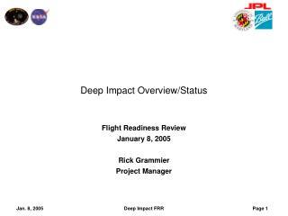 Deep Impact Overview/Status