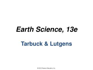 Earth Science, 13e