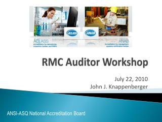 RMC Auditor Workshop