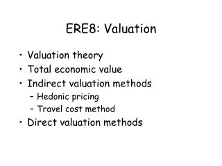 ERE8: Valuation