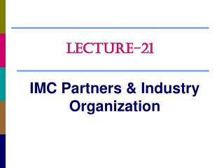 IMC Partners & Industry Organization