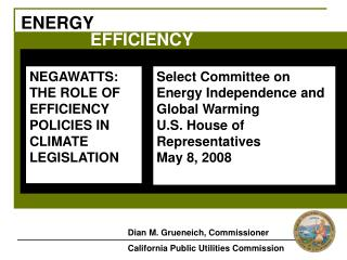 Select Committee on  Energy Independence and Global Warming U.S. House of Representatives