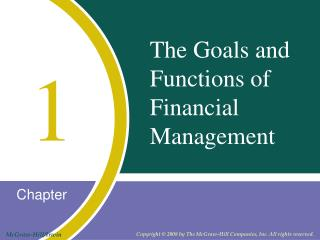 The Goals and Functions of Financial Management