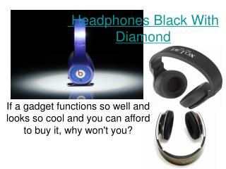 Headphones Black With Diamond