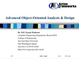 Advanced Object-Oriented Analysis & Design