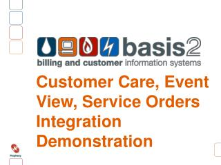 Customer Care, Event View, Service Orders Integration Demonstration