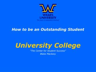 How to be an Outstanding Student