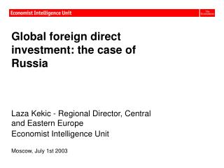 Global foreign direct investment: the case of Russia