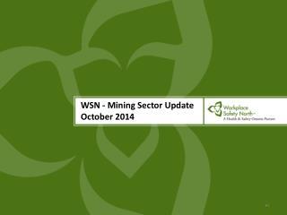 WSN - Mining Sector Update October 2014