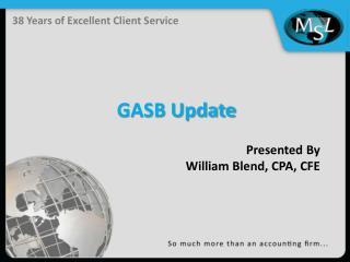 GASB Update