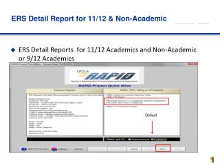 ERS Detail Report for 11/12 & Non-Academics