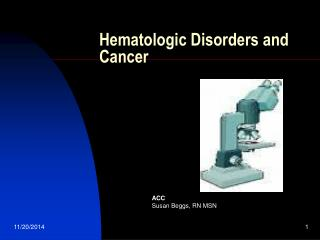 Hematologic Disorders and Cancer