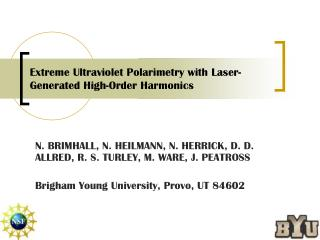 Extreme Ultraviolet Polarimetry with Laser-Generated High-Order Harmonics